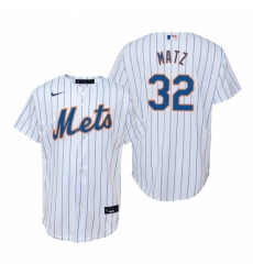 Mens Nike New York Mets 32 Steven Matz White Home Stitched Baseball Jerse