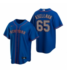 Mens Nike New York Mets 65 Robert Gsellman Royal Alternate Road Stitched Baseball Jersey