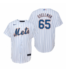Mens Nike New York Mets 65 Robert Gsellman White Home Stitched Baseball Jersey
