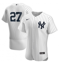 Men New York Yankees 27 Giancarlo Stanton Men Nike White Home 2020 Flex Base Player Team MLB Jersey