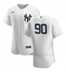 Men New York Yankees 90 Estevan Florial Men Nike White Navy Home 2020 Flex Base Player MLB Jersey