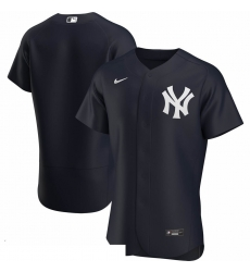 Men New York Yankees Men Nike Navy Alternate 2020 Flex Base Official Team MLB Jersey