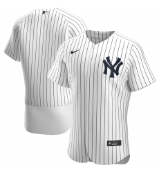 Men New York Yankees Men Nike White Home 2020 Flex Base Official Team MLB Jersey