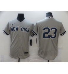 Men Nike New York Yankees 23 Don Mattingly Gray MLB Jersey