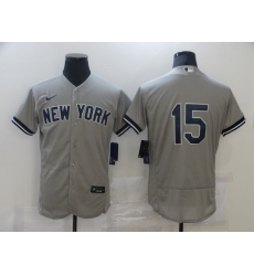 Men Nike New York Yankees Thurman Munson 15 Grey Flex Base MLB Jersey