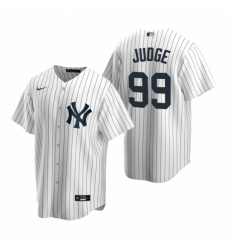 Mens Nike New York Yankees 99 Aaron Judge White Home Stitched Baseball Jerse