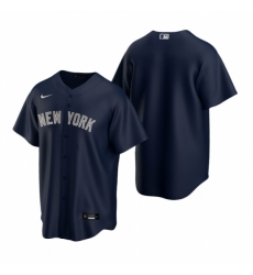 Mens Nike New York Yankees Blank Navy Alternate Stitched Baseball Jersey