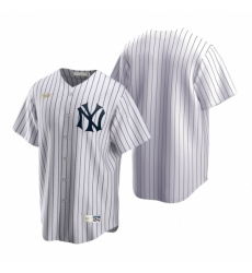 Mens Nike New York Yankees Blank White Cooperstown Collection Home Stitched Baseball Jersey