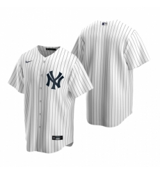 Mens Nike New York Yankees Blank White Home Stitched Baseball Jersey