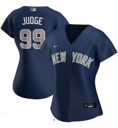 New York Yankees 99 Aaron Judge Nike Women Alternate 2020 MLB Player Jersey Navy