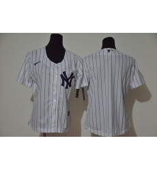 Women Yankees Blank White Women Cool Base Jersey