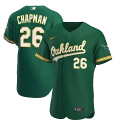 Men Oakland Athletics 26 Matt Chapman Men Nike Kelly Green Alternate 2020 Flex Base Player MLB Jersey