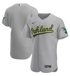 Men Oakland Athletics Men Nike Gray Road 2020 Flex Base Official Team MLB Jersey