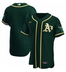 Men Oakland Athletics Men Nike Green Alternate 2020 Flex Base Team MLB Jersey