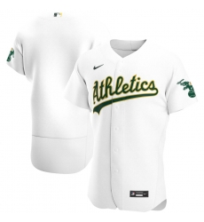 Men Oakland Athletics Men Nike White Home 2020 Flex Base Official Team MLB Jersey