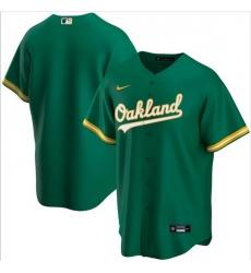 Men Oakland Athletics Nike Green Blank Jersey II