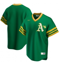 Men Oakland Athletics Nike Road Cooperstown Collection Team MLB Jersey Kelly Green