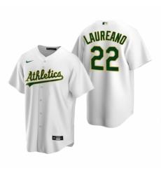 Mens Nike Oakland Athletics 22 Ramon Laureano White Home Stitched Baseball Jersey