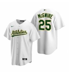 Mens Nike Oakland Athletics 25 Mark McGwire White Home Stitched Baseball Jerse