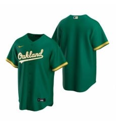 Mens Nike Oakland Athletics Blank Green Alternate Stitched Baseball Jersey