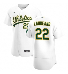 Oakland Athletics 22 Ramon Laureano Men Nike White Home 2020 Authentic Player MLB Jersey