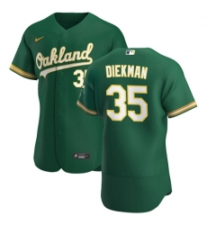 Oakland Athletics 35 Jake Diekman Men Nike Kelly Green Alternate 2020 Authentic Player MLB Jersey