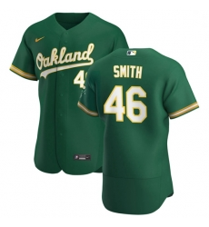 Oakland Athletics 46 Burch Smith Men Nike Kelly Green Alternate 2020 Authentic Player MLB Jersey