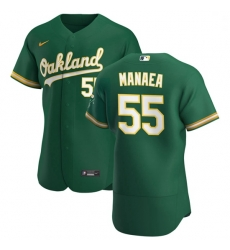 Oakland Athletics 55 Sean Manaea Men Nike Kelly Green Alternate 2020 Authentic Player MLB Jersey
