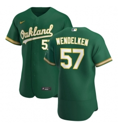 Oakland Athletics 57 J B  Wendelken Men Nike Kelly Green Alternate 2020 Authentic Player MLB Jersey
