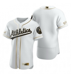 Oakland Athletics Blank White Nike Mens Authentic Golden Edition MLB Jersey