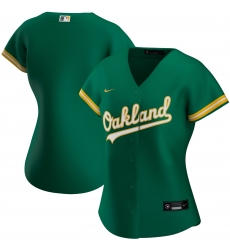 Oakland Athletics Nike Women Alternate 2020 MLB Team Jersey Kelly Green