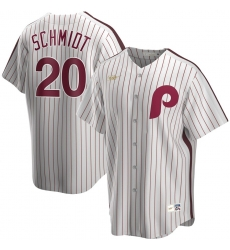 Men Philadelphia Phillies 20 Mike Schmidt Nike Home Cooperstown Collection Player MLB Jersey White
