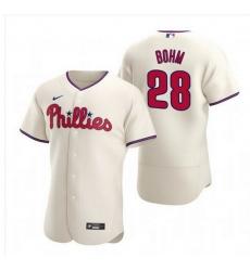 Men Philadelphia Phillies 28 Alec Bohm Cream Alternate JerseyS