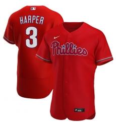 Men Philadelphia Phillies 3 Bryce Harper Men Nike Red Alternate 2020 Flex Base Player MLB Jersey