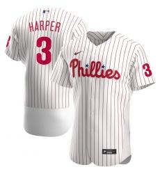 Men Philadelphia Phillies 3 Bryce Harper Men Nike White Home 2020 Flex Base Player MLB Jersey