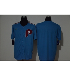 Men Philadelphia Phillies Blank Blue Nike Cooperstown Collection Jersey