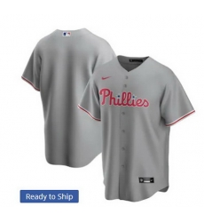 Men Philadelphia Phillies Nike Gray Blank Jersey