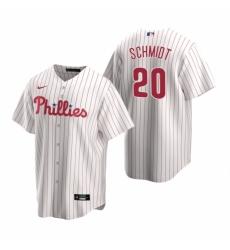 Mens Nike Philadelphia Phillies 20 Mike Schmidt White Home Stitched Baseball Jerse