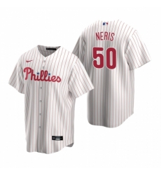 Mens Nike Philadelphia Phillies 50 Hector Neris White Home Stitched Baseball Jersey