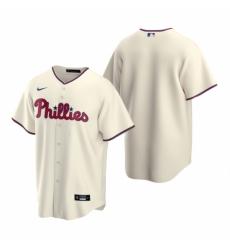 Mens Nike Philadelphia Phillies Blank Cream Alternate Stitched Baseball Jersey