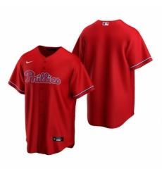 Mens Nike Philadelphia Phillies Blank Red Alternate Stitched Baseball Jersey