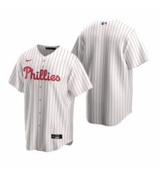Mens Nike Philadelphia Phillies Blank White Home Stitched Baseball Jersey