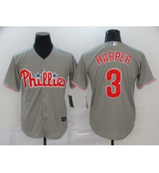 Phillies 3 Bryce Harper Gray 2020 Nike Cool Base Jersey