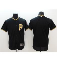 Men MLB Pittsburgh Pirates blank black Cool Base Jersey
