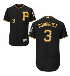 Mens Majestic Pittsburgh Pirates 3 Sean Rodriguez Black Flexbase Authentic Collection MLB Jersey