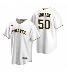 Mens Nike Pittsburgh Pirates 50 Jameson Taillon White Home Stitched Baseball Jersey
