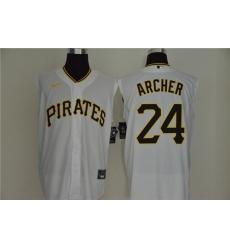 Pirates 24 Chris Archer White Nike Cool Base Sleeveless Jersey