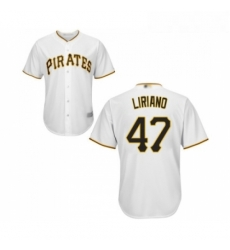 Youth Pittsburgh Pirates 47 Francisco Liriano Replica White Home Cool Base Baseball Jersey