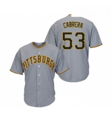 Youth Pittsburgh Pirates 53 Melky Cabrera Replica Grey Road Cool Base Baseball Jersey