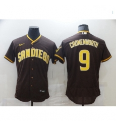 Men Nike San Diego Padres 9 Jake Cronenworth Brown 2021 Road Player Jersey